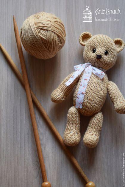 """Knitted toy Bear for newborn / Для новорожденных, ручной работы. Вязаная игрушка """" Мишка"""". Наталья Виноградова (Куляко). Интернет-магазин Ярмарка Мастеров. Однотонный"""