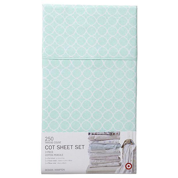 250 Thread Count 3 Piece Cotton Sheet Set - Hampton Aqua