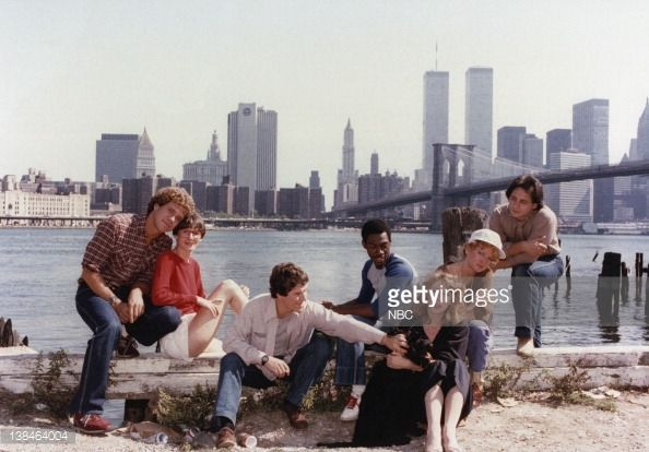 Early 1980's Saturday Night Live cast Joe Piscopo, Mary Gross, Tim Kazurinsky, Eddie Murphy, Robin Duke, Tony Rosato circa 1980's in New York.