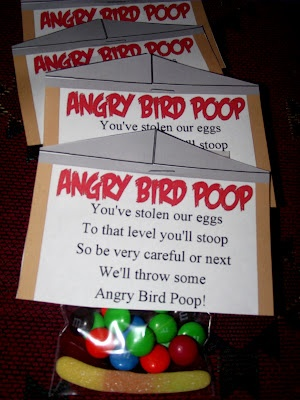 Angry Bird Poop Party Favor Angry Birds Food Table (Click on picture for Angry Birds party ideas!) #CaydenDaniel