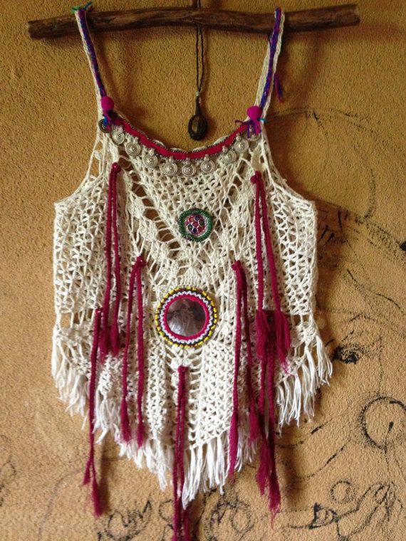 ₩₩₩  Handmade crochet top free size. by PadMa88 on Etsy, ฿1200.00