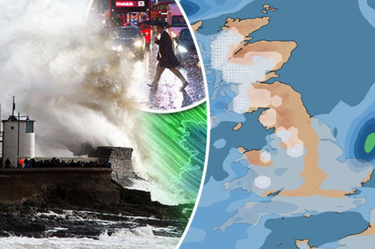 UK weather MAPPED Where and when snow and rain will lash Britain TODAY