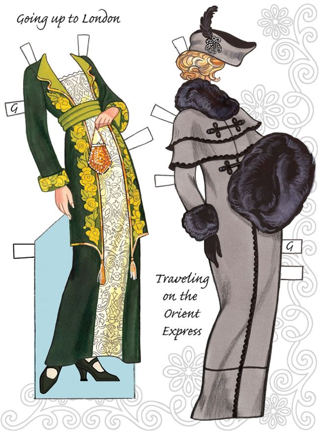 English Country Paper Dolls DOWNTON ABBEY Costumes for Paper Doll 1 SAMPLES  Welcome to Dover Publications 4 of 6