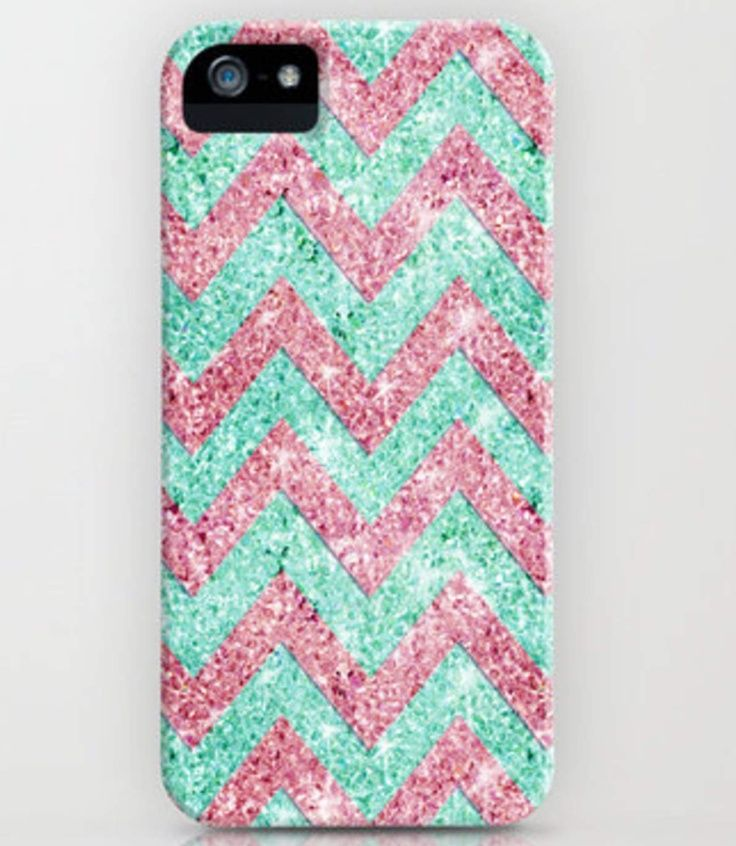 chevron phone cases | Chevron glitter phone case.. So cute! | Tech Accessories