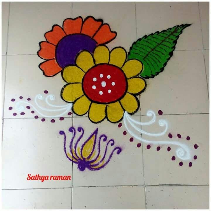 Rangoli by Sathya raman