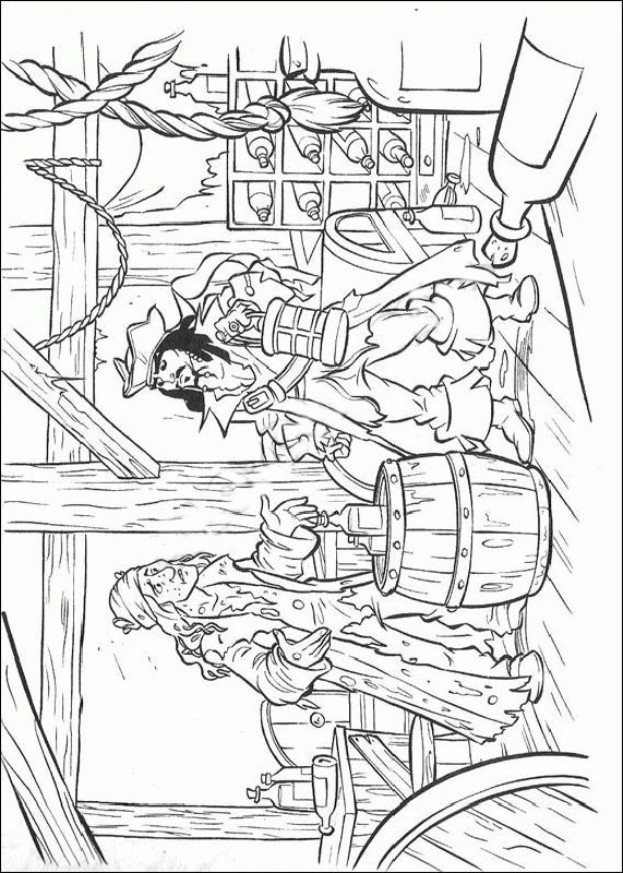 pirates of the caribbean coloring pages 15