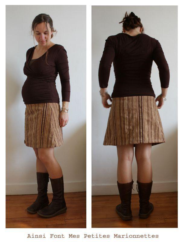 Jupe de grossesse et tuto de ceinture jersey