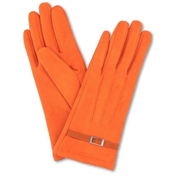 Alicia Faux Suede Ladies Orange Gloves ($36) ❤ liked on Polyvore featuring accessories, gloves, fancy gloves and orange gloves