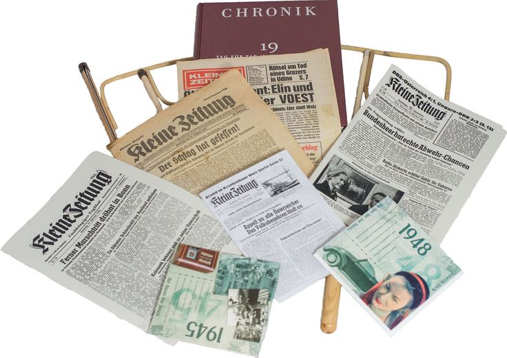 Gift Local Newspaper from Day of Birth - Kleine Zeitung Steiermark Archivausgaben