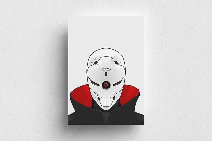 #Gaming #Metal Gear Solid #Gray Fox #Ninja #Kojima #Red #White #Poster #Print #Minimalism #Minimalist #Design #Graphic Design #Adrian #Iorga #Art #Wallart #Decoration #Fashion