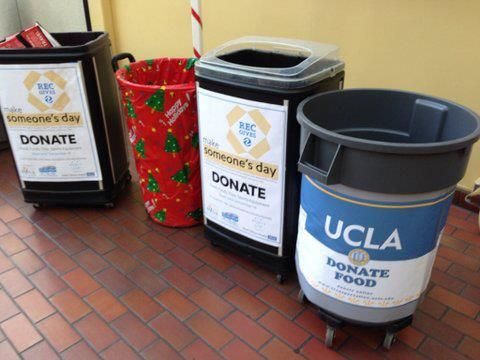john wooden center served as a dropoff spot for several donation drives including