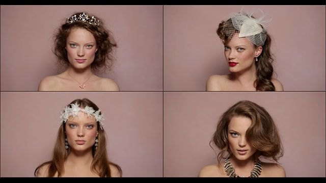 Before I Do: Hair & Makeup Ideas for the Bride to Be by BHLDN. The Romantic, The Lady, La Bohémienne, The Muse