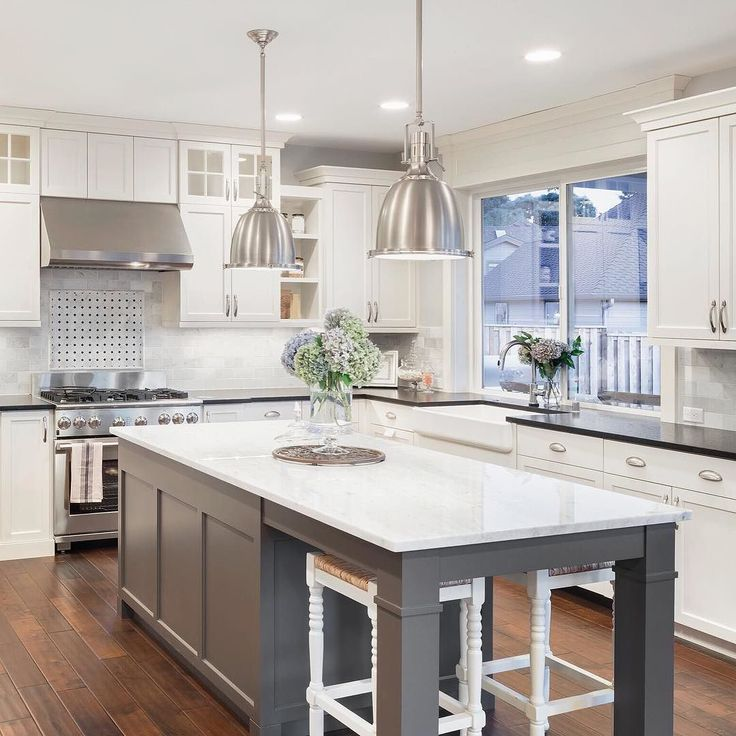 Here are 5 Top Kitchen Trends for 2017:  1. White cabinets are still trending this year. Many are also adding grey color tones as well.  2. Nickel silver hardware on the cabinets sink and fixtures.  3. Chandelier lighting over the island instead of standard fixtures.  4.  Copper accents are making a comeback. Handles backsplashes and appliances with copper gives kitchen spaces a whole new look.  5. Adding technology. Forget about Smart Tvs. Have you purchased a smart fridge yet?  My husband…