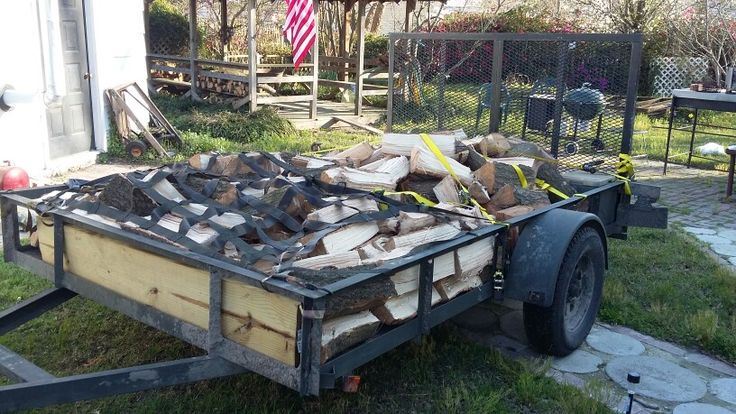 About 1000 pounds of Oak and Cherry on the tag along trailer.  God bless the man who invented the motorized wood splitter.