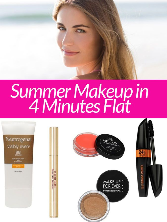 The ultimate 4-minute summer makeup routine: 6 products, no makeup brushes.