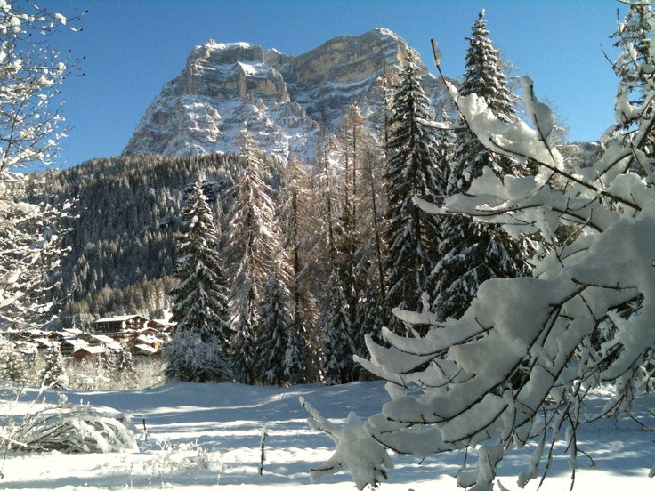 Monte Pelmo, view by Mareson di Zoldo, Dolomites, Italy.