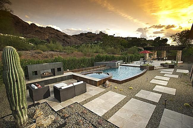 67 best images about desert landscaping ideas on pinterest for Garden pool in arizona