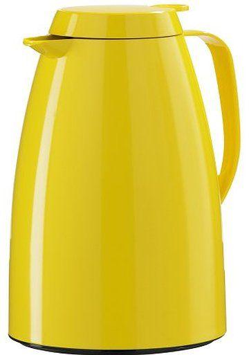 【ドイツ品質・機能】emsa 保温・保冷ポット 味移りしない・保温効果の高いガラス瓶採用 1.0l イエロー EZBP10-YL
