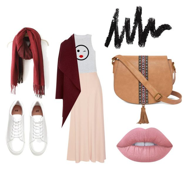 """""""hijab chic"""" by ikram-etsku ❤ liked on Polyvore featuring The Row, Harris Wharf London, T-shirt & Jeans and Lime Crime"""