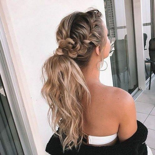 34 Insipiration for Side Braid Hairstyles You Will Love #sidebraidhairstyles #sidebraids » Fcbihor.net #Shorthairprom