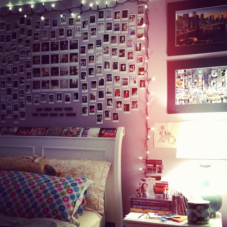 Bedroom Wall Art Inspiration Polaroids And String
