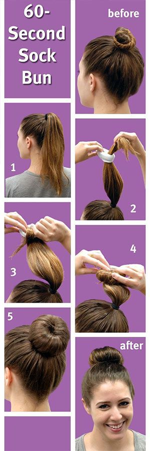 how to make the ultimate sock bun. (SO many tips!)