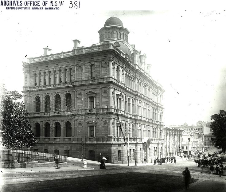 Caption: New South Wales Lands Department Building, Bridge Street, Sydney (NSW) Digital ID: 4481_a026_000344.jpg Date: n.d. Format: Black and white photograph Size: 30x25 cm