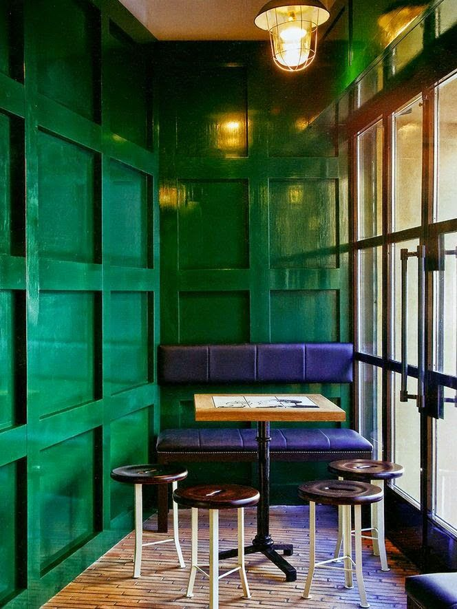 South Shore Decorating Blog: Gorgoeus Emerald Green Rooms and Pops of Color