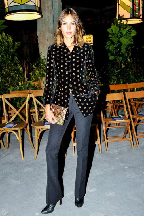 Alexa Chung attends the Opening Ceremony Spring/Summer 2016 fashion show during New York Fashion Week on September 13, 2015