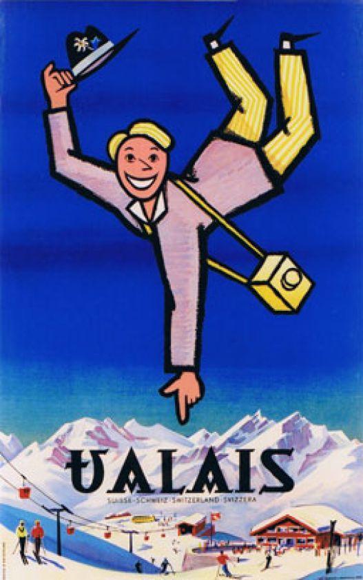 Valais Suisse Schweiz Switzerland Swizzera by Monnerat Pierre / 1960