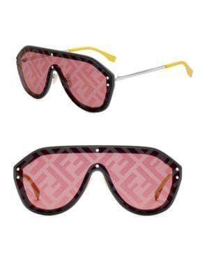 f849fc86f6406 FENDI 99MM Logo Fashion Shield Sunglasses.  fendi