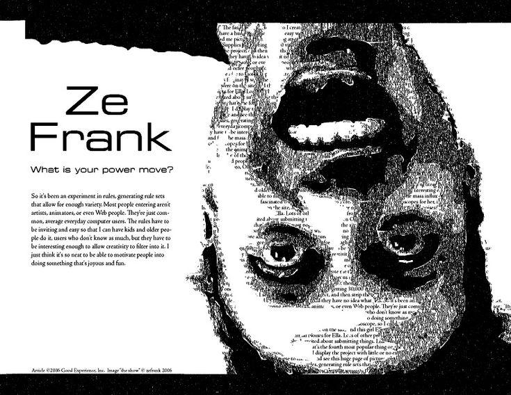 Ze Frank Typography Portrait