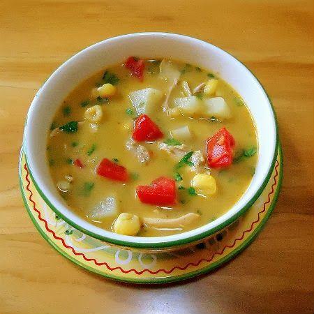 One Perfect Bite: Frugal Foodie Friday - Chupe de Pollo con Chipotle (Peruvian Chicken Chowder)