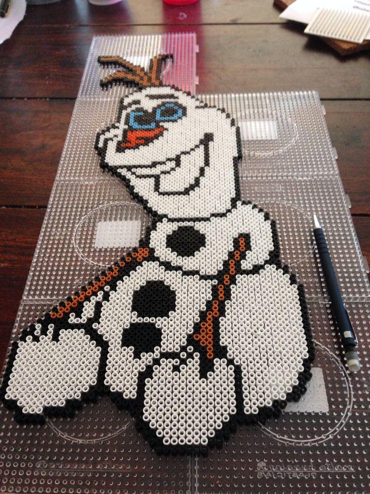 Olaf Frozen hama perler beads by Dorte Marker