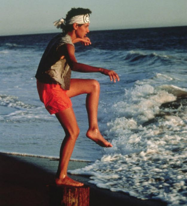 The Karate Kid  (1984)  Ralph Macchio as Daniel Larusso 1. the actor's teenage self is gorgeous 2. One of my favourite films EVER 3. Why did the '80s have so many of the great movies? (BTTF, Karate Kid, Breakfast Club)