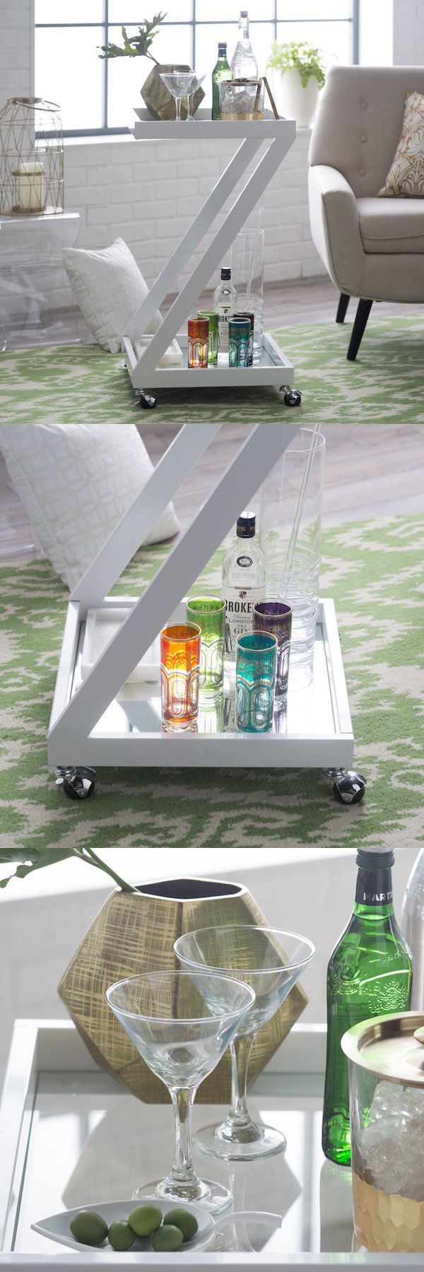 Bar Carts And Serving Carts 183320: Modern Bar Cart Office Furniture Server Outdoor  Patio Accent