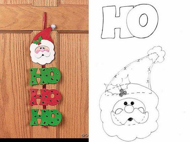 Manualidades en foami de navidad con patrones - Imagui