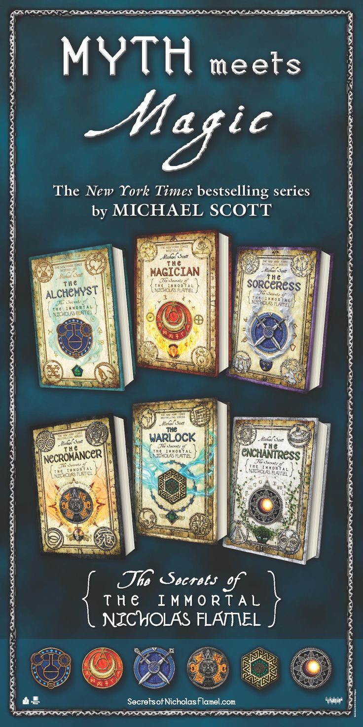 The Secrets of the Immortal Nicholas Flamel by Michael Scott-a fantastic series!!!!!!!!!!!