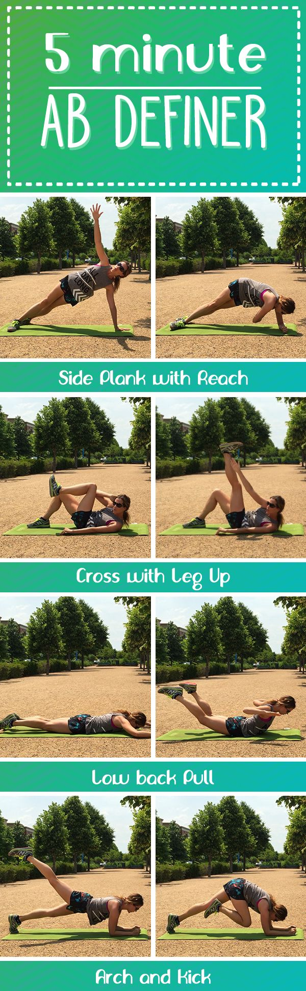 281 best running and fitness images on pinterest fitness tips 5 minute ab definer dynamic moves that work the obliques as part of the 30 ccuart Choice Image