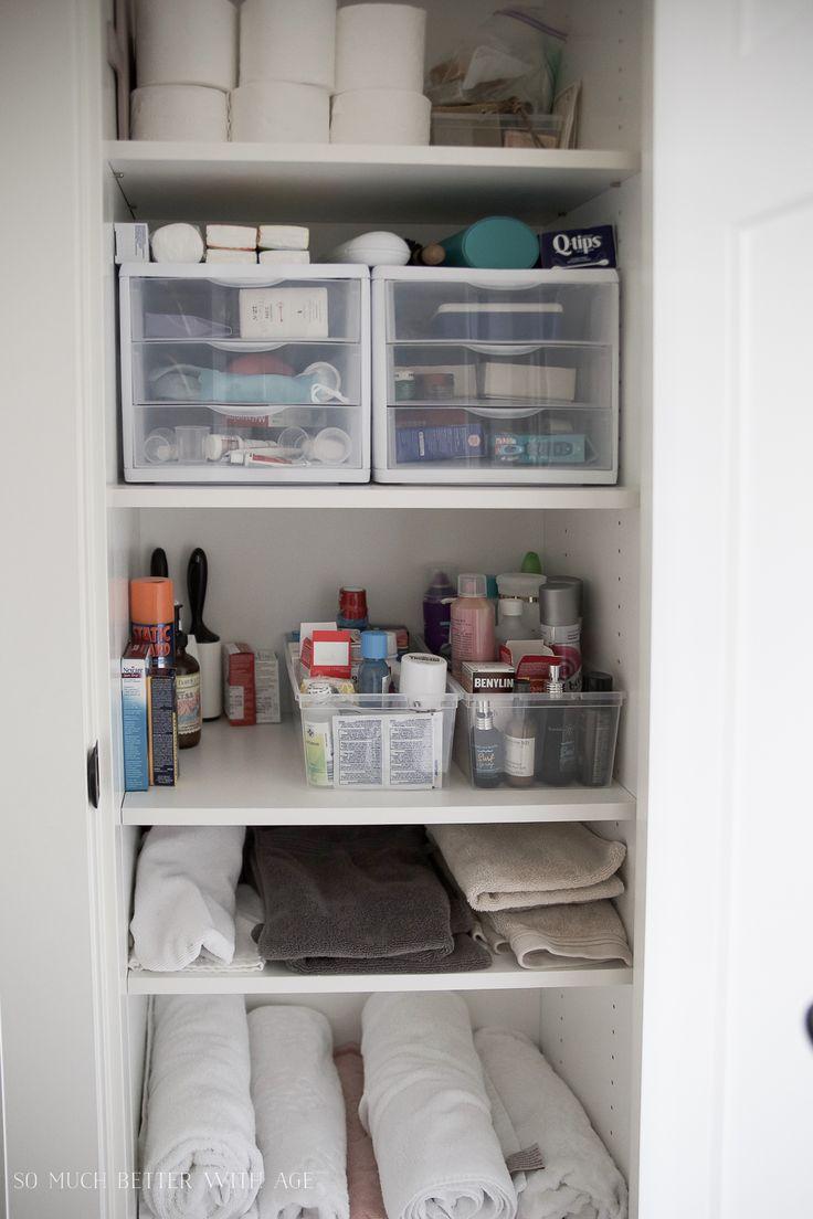 Best 25 hall closet organization ideas on pinterest for Bathroom closet organizer ideas