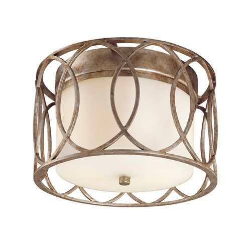 """Troy Sausalito Two Light Flush Mount - 12.25""""W x 7.5""""H - At Bellacor $302"""