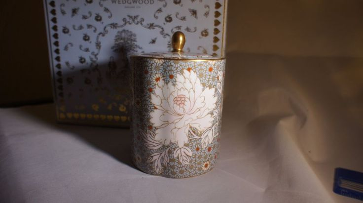 Wedgwood Butterfly & Daisy Bone China Tea Caddies SET OF TWO Wholesale Lot #Wedgwood