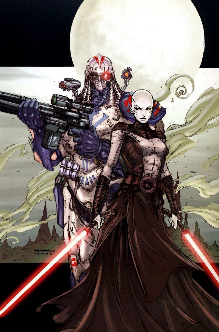 Star Wars - Asajj Ventress and bounty hunter Durge