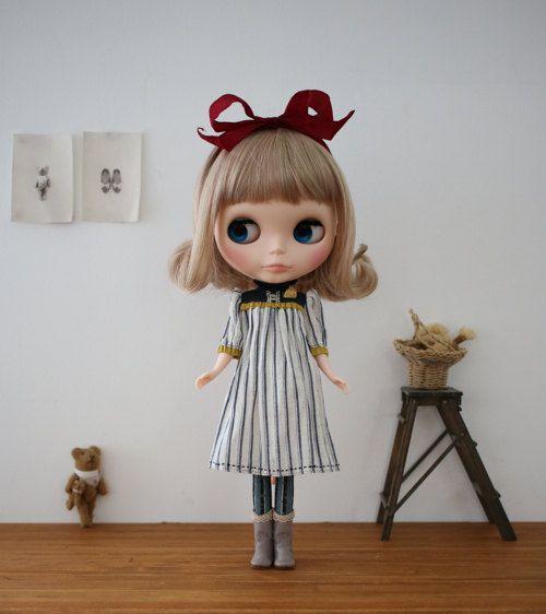 Hanon Workshop kit (Dress with frilled collar / White) for Blythe