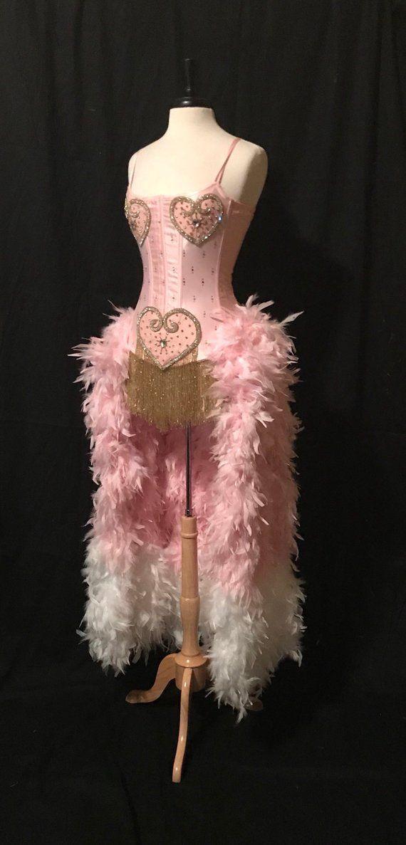 Pink XS Burlesque Dancer Costume
