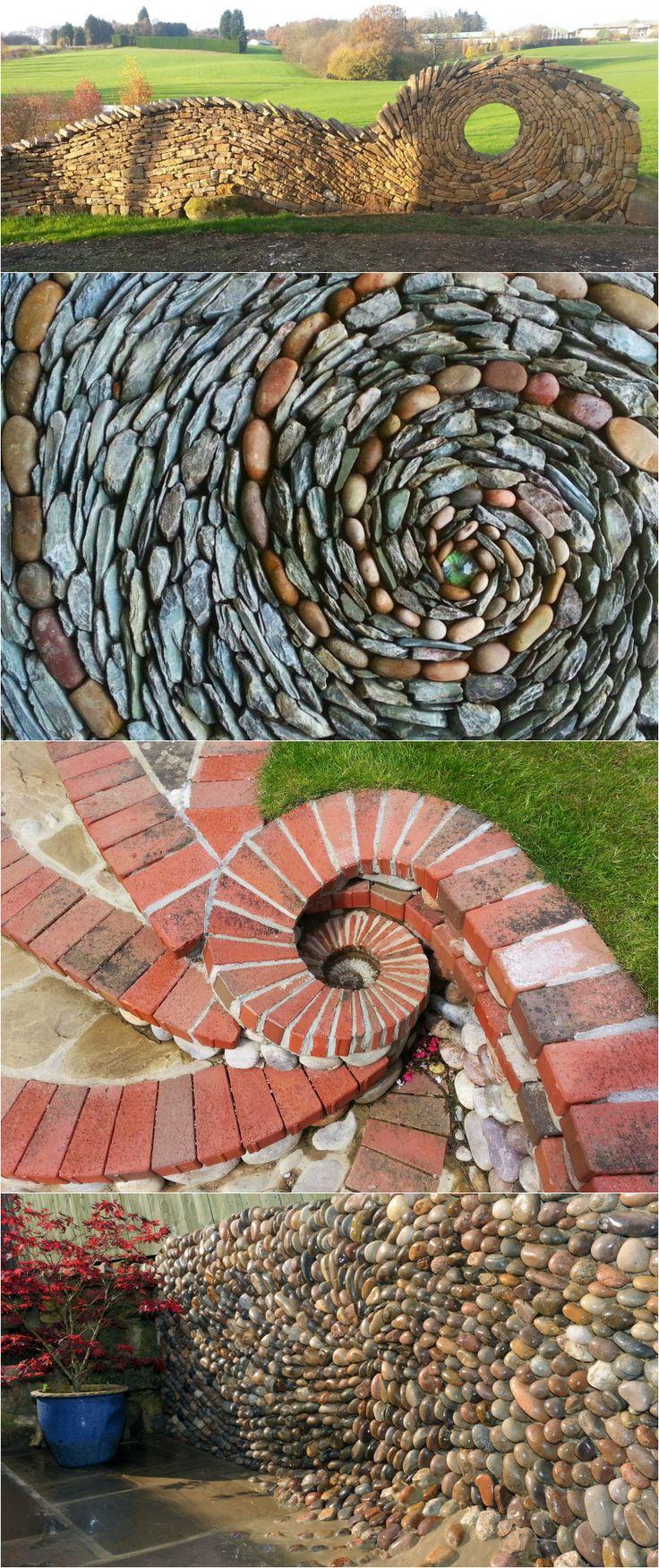 English stonemason Johnny Clasper creates mesmerizing hand-built walls, mosaics and sculptural landscapes that transform stone into a flowing, fluid-like medium.