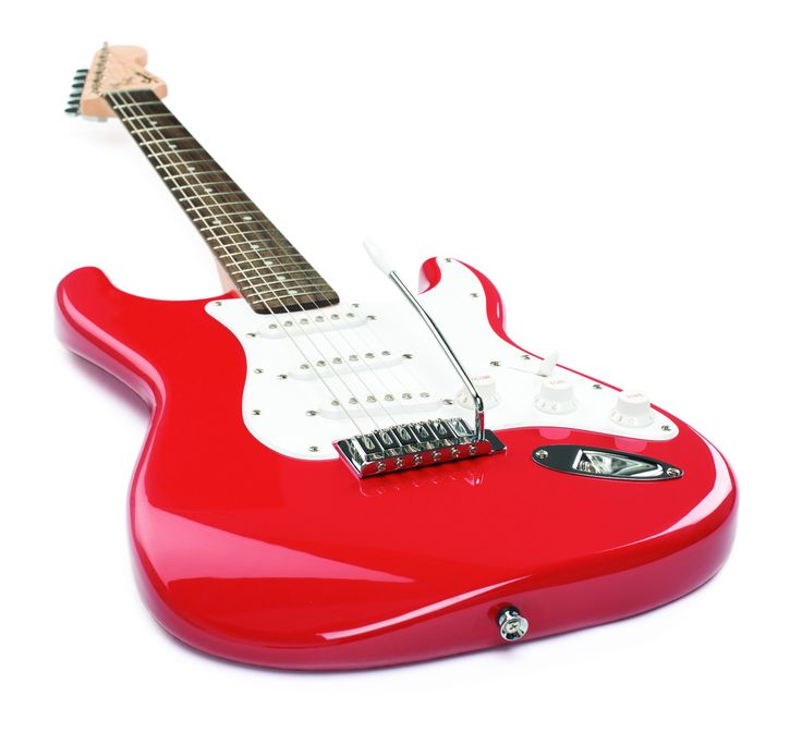 FENDER SQUIER STRAT STRATOCASTER FIESTA RED ELECTRIC GUITAR ~ NEW BULLET SERIES