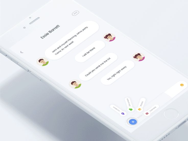 [EN] IOS Desgin - UI Design Inspiration - UX Desgin Inspiration - Messeger App - Chat - Microinteractions  [PT] Design de Interfaces - Design de Experiência do Usuário - Inspiração - Aplicativo de mensagens - Bate-papo - Micro interações