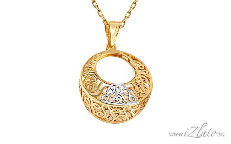 Zlatý prívesok vypletaný krúžok