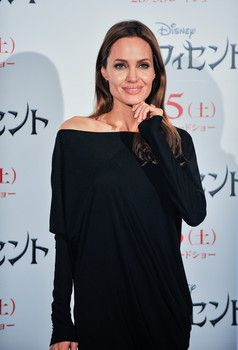 Angelina Jolie attends Maleficent press conference for the Japan premiere at Grand Hyatt Tokyo.